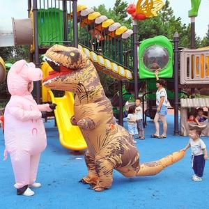 Image 2 - T REX maskotka nadmuchiwany kostium na halloween boże narodzenie dorosłych dzieci Anime Cosplay dinozaur zwierząt Dino Cartoon prezent Disfraz