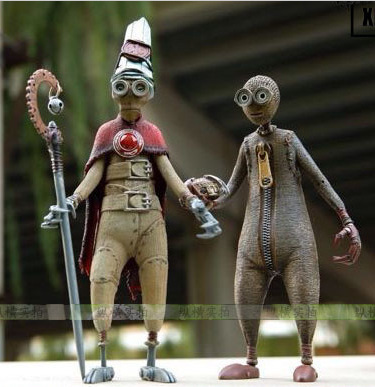 [Funny] Original 7 inch 18cm NECA anime Tim Burton 9 nine Moving Model PVC Action Figure Toy For Numero9/Nine/9 collection model