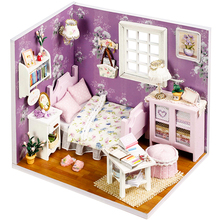 Cutebee Doll House Furniture Miniature Dollhouse DIY Box Theatre Toys for Children stickers H01