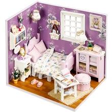 Cutebee Doll House Furniture Miniature Dollhouse DIY Miniature House Box Theatre Toys for Children stickers DIY Dollhouse H01 цены