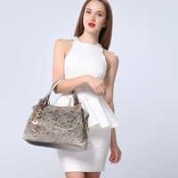 Women's bag bolsa de dama feminina handbags gray hollow out ombre bags ladies szare torebki damskie hobo lace bag female 2019