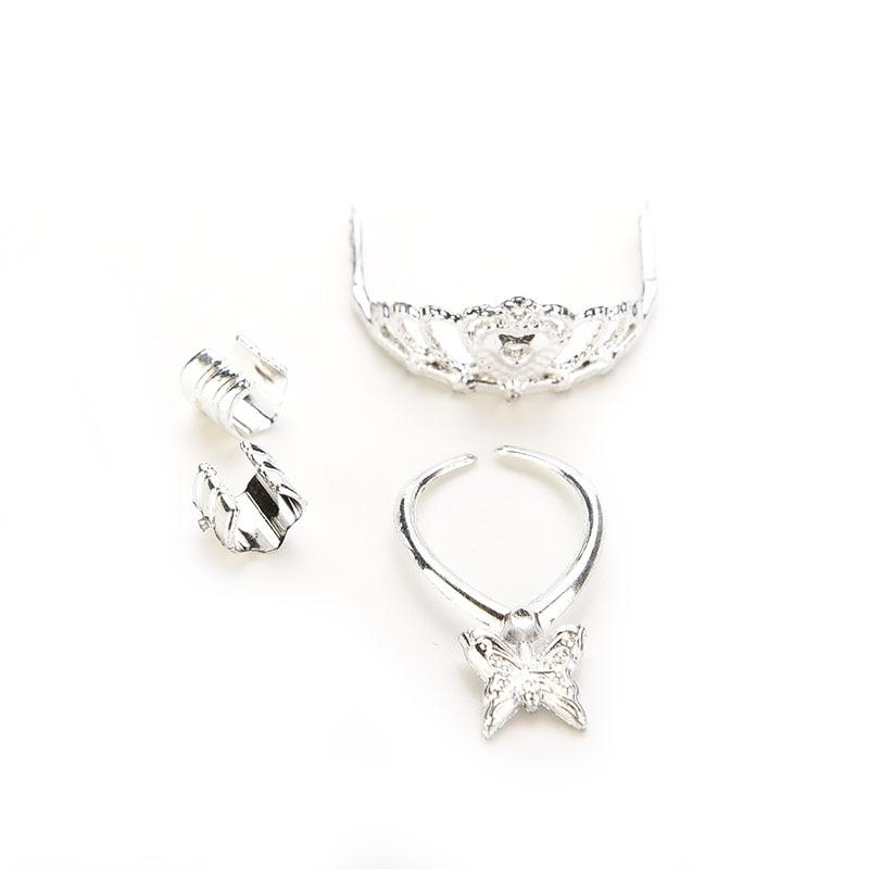 4pcs/set new Girls Crystal Plastic Sliver Crown Headband Headwear 1 Necklace 2 Bracelets For Barbie Doll Toys