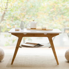 ZEN'S BAMBOO Coffee Table Bamboo Tea table Double Layer Living Room Square Table Coffee Table Home Furniture