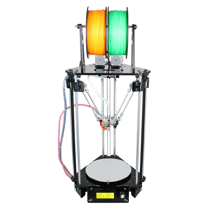 Geeetech 3D Imprimante Double Têtes Rostock Mini G2S Delta Auto Nivellement Kits Mis À Jour En Métal à Haute Résolution Impressora