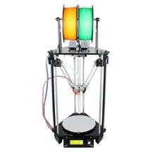 Geeetech 3d-принтер Двойной Головы Rostock Mini G2S Дельта Авто Выравнивание Наборы Обновлены Все Металлические Высокого Разрешения Impressora