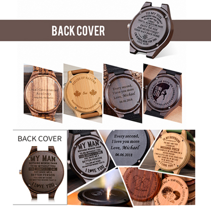 LOGO wood bamboo wooden watches wooden boxes logo engraved fee,customized logo laser engrave OEM/ODM