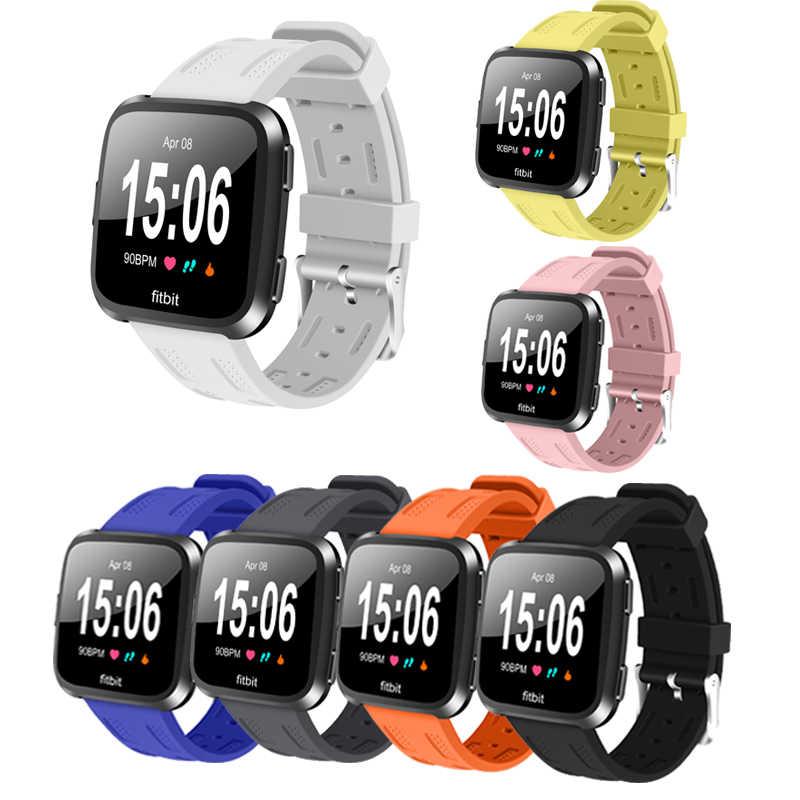 Популярные спортивные силиконовые часы ремешок для Fitbit Versa красочный сменный