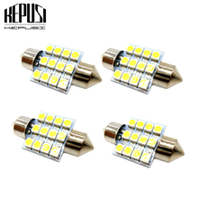 4pcs 31mm C5W festoon c10W 3528 Car Auto Festoon Dome Interior Map Lights Bulb Lamp for DC 12V white Styling