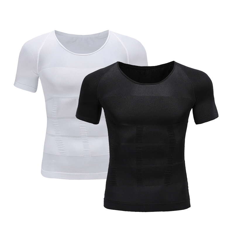 Men's Slimming Shaper Posture Vest Male Belly Abdomen For Corrector Compression Body Building Fat Burn Chest Shirt Corset 2019