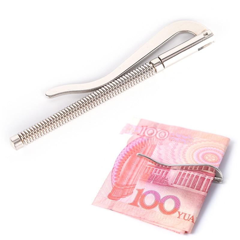 1 adet yeni varış yay kelepçesi nakit tutucu metal para klipleri paslanmaz çelik para nakit klip kelepçe tutucu cep