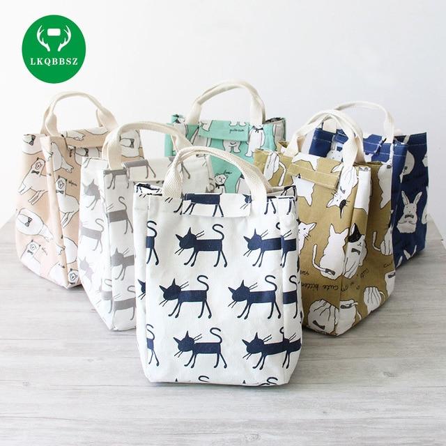 839e0cf26994 US $3.83 15% OFF LKQBBSZ Variety Pattern Bread Box Lunch box Women Handbag  Waterproof Picnic Bag Lunchbox For Kids Adult bags-in Storage Boxes & Bins  ...