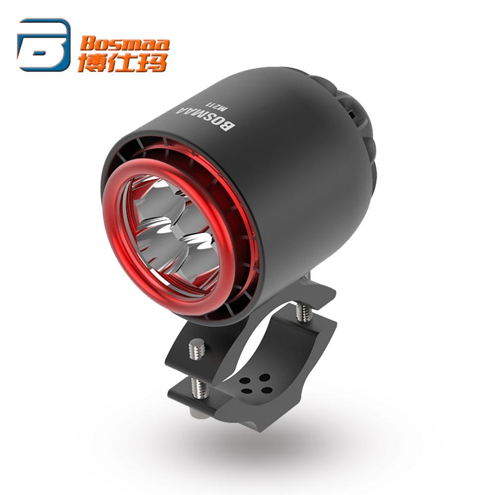 BOSMAA Turbo LED Headlight Spotlight 20W 3400LM 6000K White For Car Motorcycle Headlamp Driving Hunting Fog Light 1Pcs