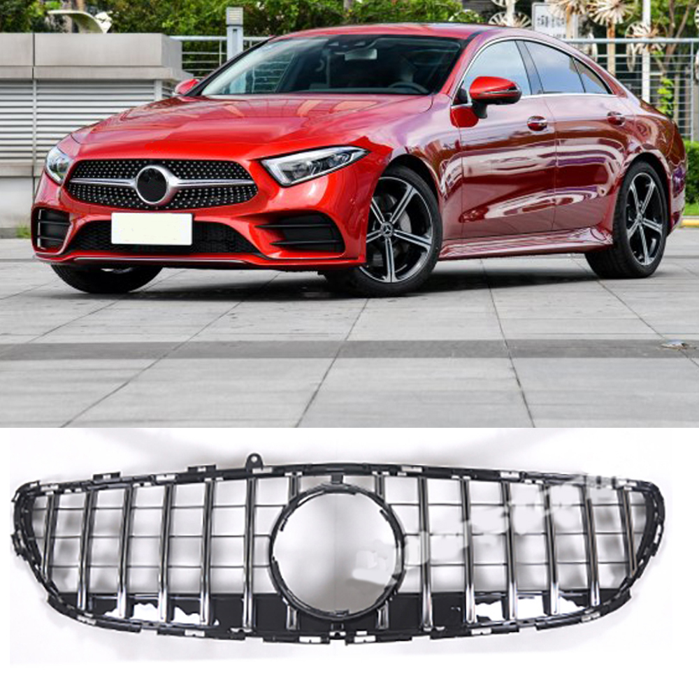 C257 Grille chromed Emblem Front Bumper mesh Radiator Grill For benz cls 2018 up