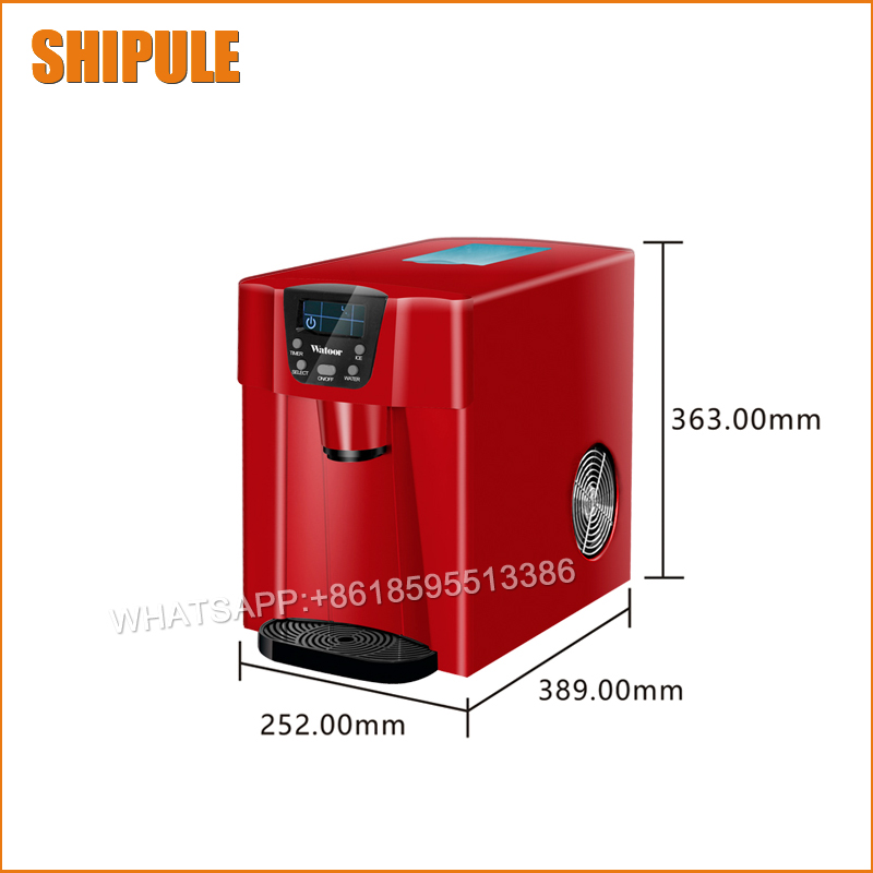 Portable Automatic ice Maker Household round ice make machine for family small bar coffee shop 220-240V 100w edtid 12kgs 24h portable automatic ice maker household bullet round ice make machine for family bar coffee shop eu us uk plug