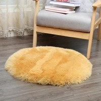 MUZZI real Sheepskin Hairy Carpet for Living Room Bedroom Rugs Skin Fur Plain Fluffy Area Rugs Washable Bedroom Mat