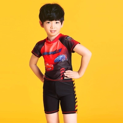 7fdb7430f0 3-9 Years Old Cars Boy's Swimsuit With Cap