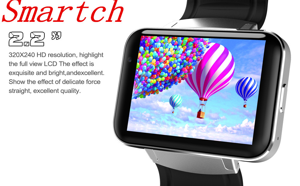Smartch DM98 Smart watch MTK6572 1.2Ghz 2.2 inch IPS HD 900mAh Battery 512MB Ram 4GB Rom Android 3G WCDMA GPS WIFI smartwatch