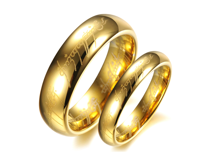 NT Hot dubai gold mens jewelry tungsten Lord of the Rings ring