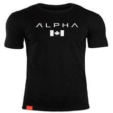 ALPHA maple leaf fashion summer short t shirt men brand clothing cotton comfortable male t-shirt print tshirt