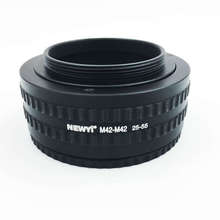 где купить Newyi M42 To M42 Mount Lens Adjustable Focusing Helicoid Macro Tube Adapter - 25Mm To 55Mm camera Lens Converter Adapter Ring дешево