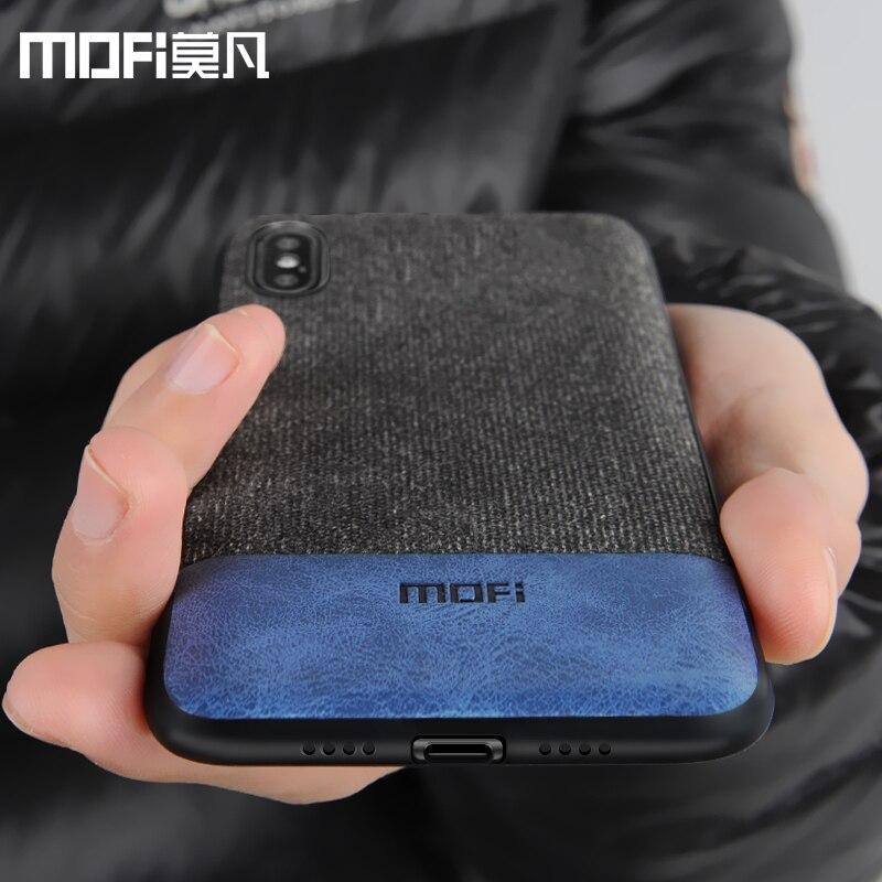 Caso MOFi per iphone x della copertura della cassa del bordo in silicone antiurto di affari degli uomini per apple x iphone x della copertura posteriore per iphone x iphone caso di x