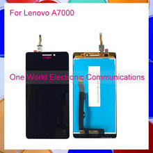 One World 1pcs/lot High Quality For Lenovo A7000 LCD Display Screen With Touch Screen Digitizer Assembly Free Shipping Hot Sale