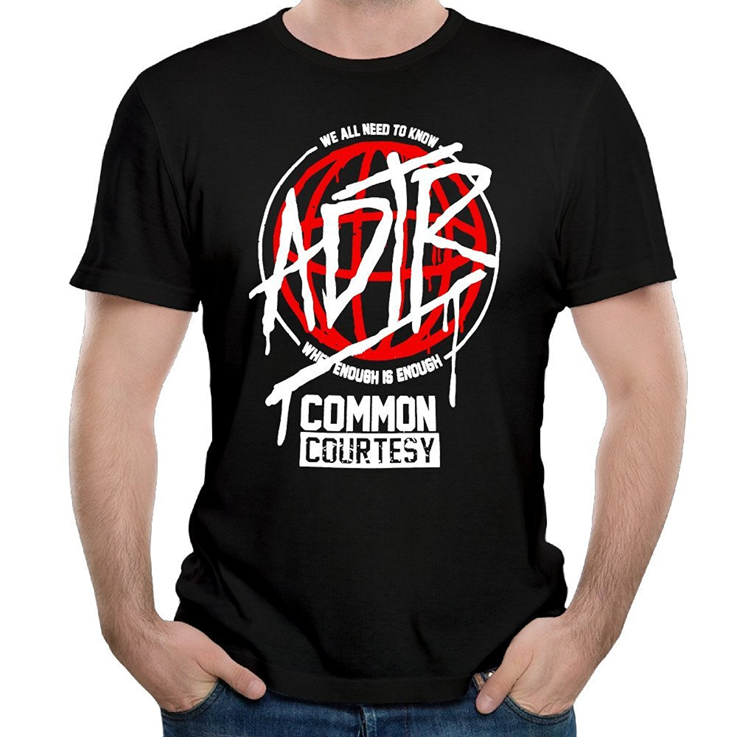 A Day To Remember Band Common Courtesy Unique Mens Short Sleeve T Shirt Fashion 100% Cotton T-Shirt New Fashion Mens T-Shirts