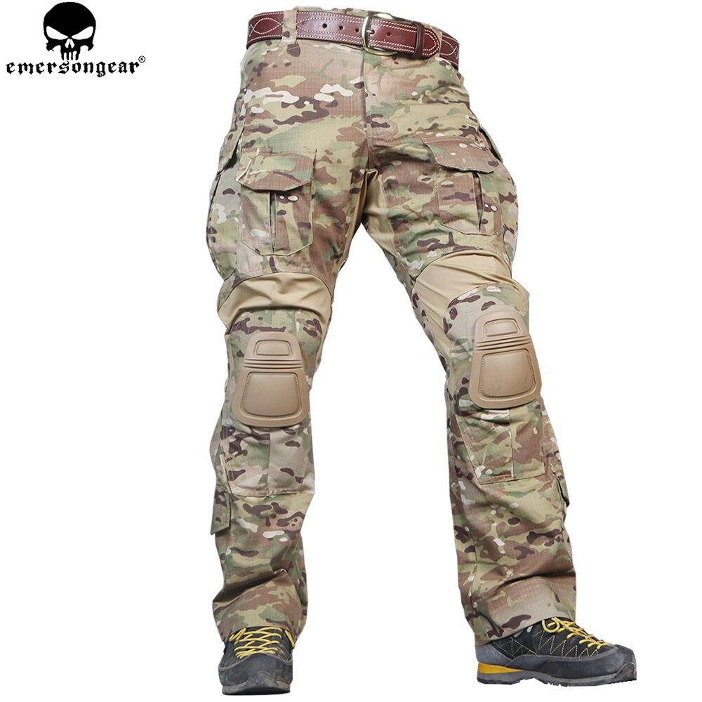 EMERSONGEAR G3 Combattimento Dell'esercito Militare Pantaloni Pantaloni Da Caccia Tactical Airsoft Emerson Multicam Pantaloni con Ginocchiere Multicam Pantaloni