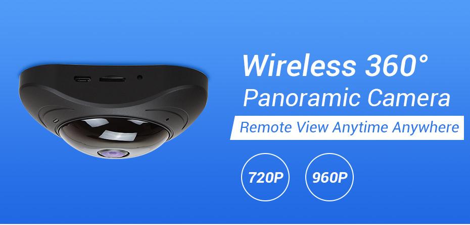 H.VIEW 360 CCTV Camera 720P IP Camera Wifi Cameras 960P Camara IP 1200TVL Fisheye Video Surveillance Cameras (1)