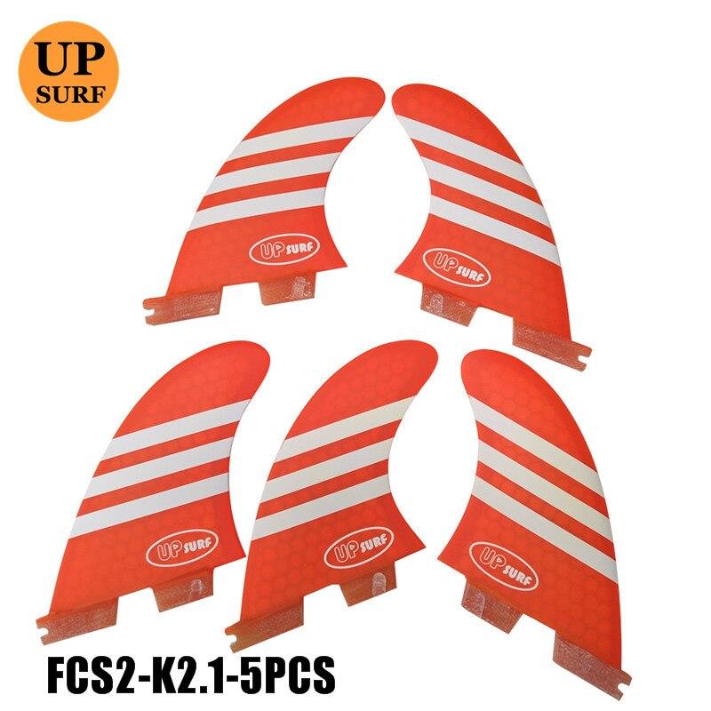 2pcs/3pcs/5pcs Surf FCS2 K2.1Fins FCSII K2.1 Tri-quad Set Fins Thruster Fins Free Shipping Stand Up Paddle