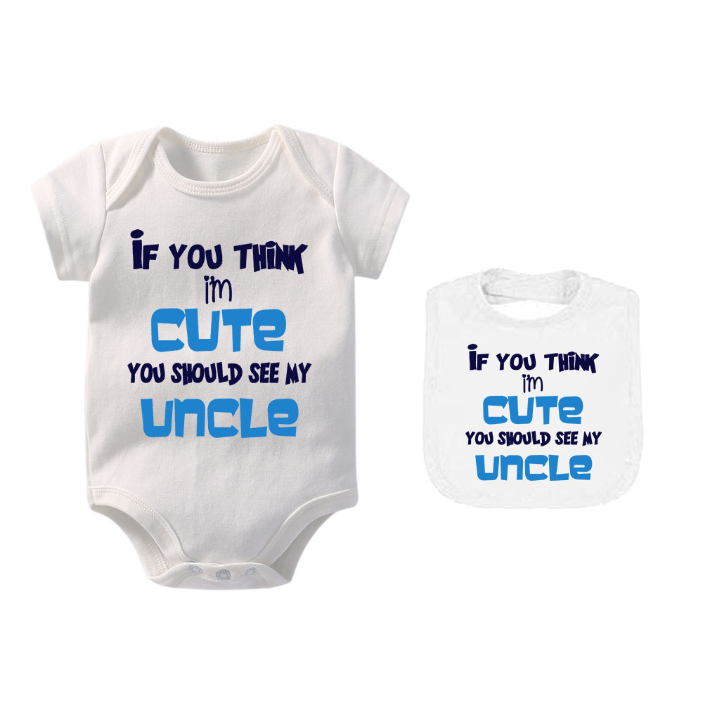 My Uncle Is Single Ask My Parents For The Details Funny Baby Bodysuit Vest
