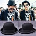 Paris Homens moda Lã Jazz Cúpula Chapéu de Aba do Chapéu Fedora Floppy Black Grey Vestido Vintage Bowler Hat Cap Casual Masculino Inverno Quente