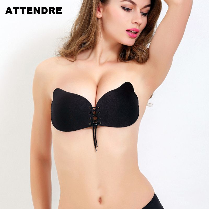 795ae95f460ff Black Friday Deals Strapless invisible Fly Bra Silicone Underwear Women  Sexy Lace Up Bralette Self Adhesive Bra Backless Sticky