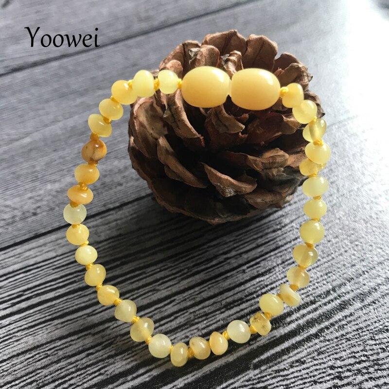 HTB11jmQnZnI8KJjSspeq6AwIpXaH Yoowei Natural Amber Bracelet/Anklet for Gift Women Amber Bracelet Baltic 4mm Small Beads Baby Teething Custom Jewelry Wholesale