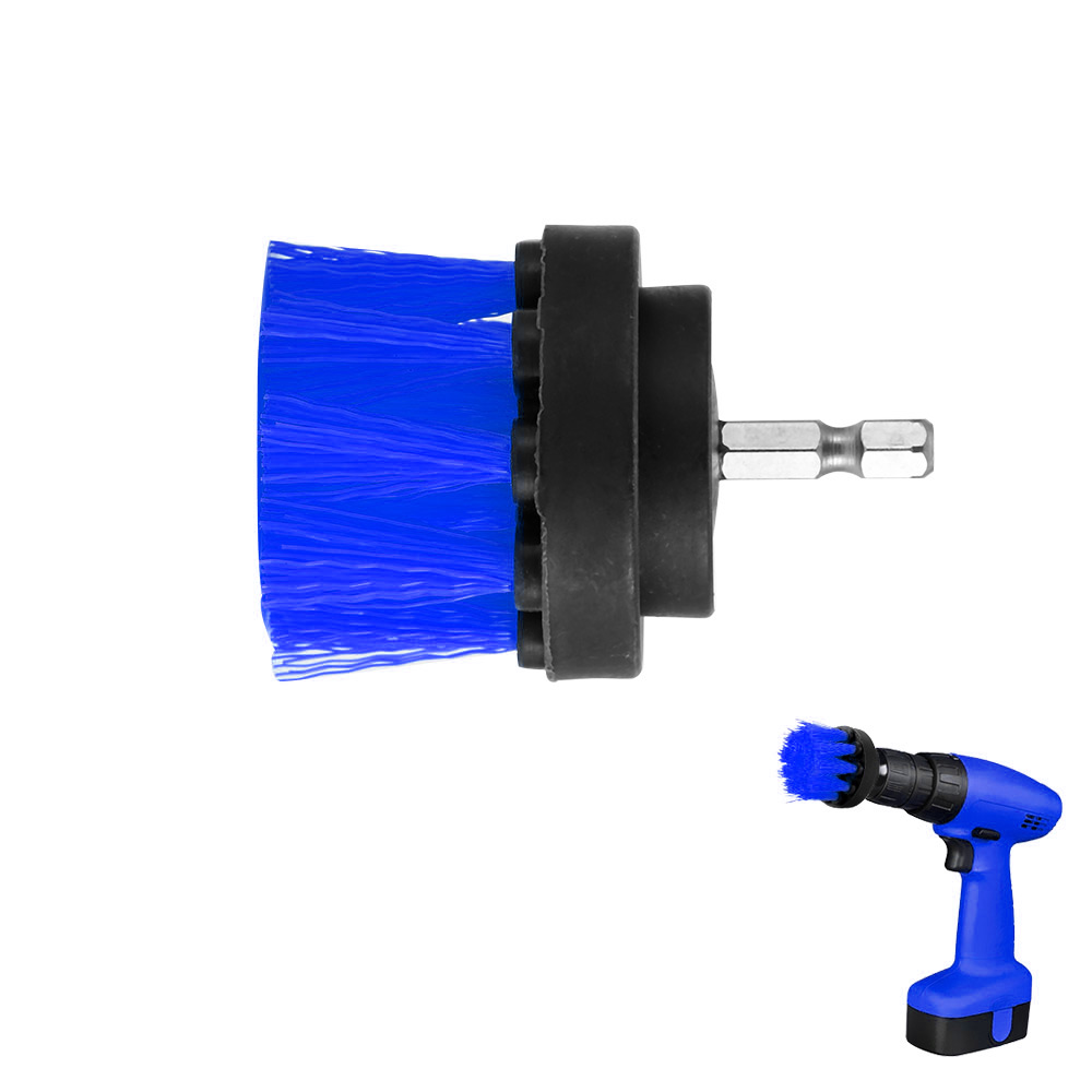 2 Inch Boor Power Scrub Schone Borstel Voor Lederen Plastic Houten Meubels Auto-interieurs Schoonmaken Power Scrub Blauw Geurige (In) Smaak