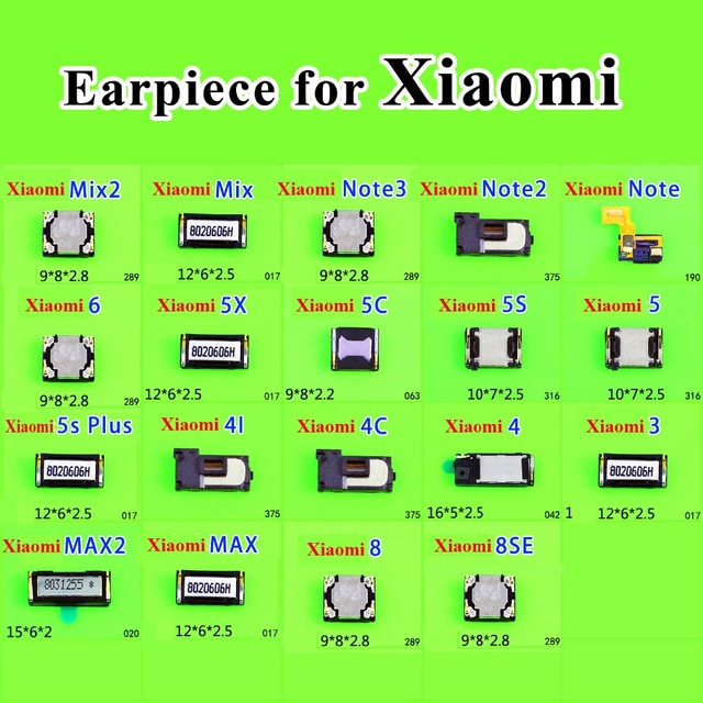 2 adet Kulaklık Kulak ses hoparlörü Alıcı Için Xiaomi Mix2 2 S Mix Not 3 2 5X Max 2 5C 5 S 5 S Artı 4i 4C Cep Telefonu Tamir parçaları
