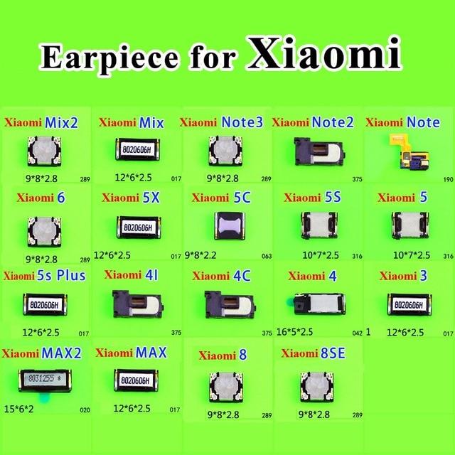 2 pcs אפרכסת אוזן צליל רמקול מקלט עבור Xiaomi Mix2 2 S לערבב הערה 3 2 5X מקסימום 2 5C 5S 5S בתוספת 4i 4C נייד טלפון תיקון חלקים