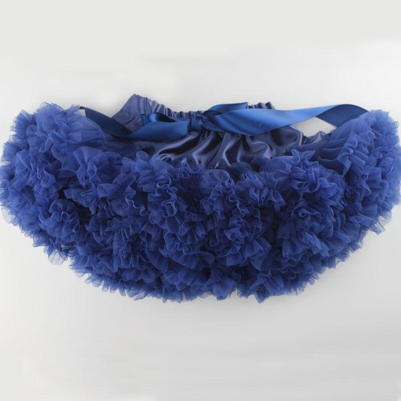 Детские Нижние юбки для девочек юбка-пачка Нижняя юбка для девочек девочки пачки, миниатюрные юбки шифоновая юбка воздушная юбка подростковая одежда для девочек - Цвет: navy blue