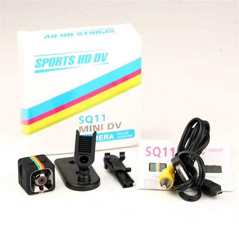 Original sq11 Micro Webcam Camera HD 1080P DV Mini 12MP Sport Camera Car DVR Night Vision Video Voice Recorder Mini Action Cam