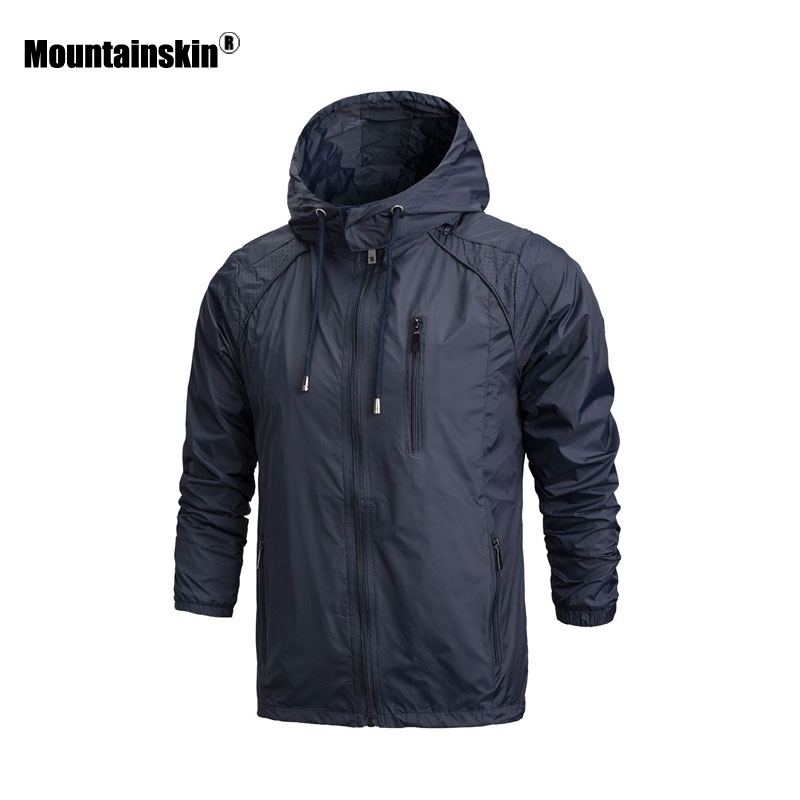 Mountainskin Spring Autumn Hooded font b Men s b font Jacket Casual Windbreaker font b Men