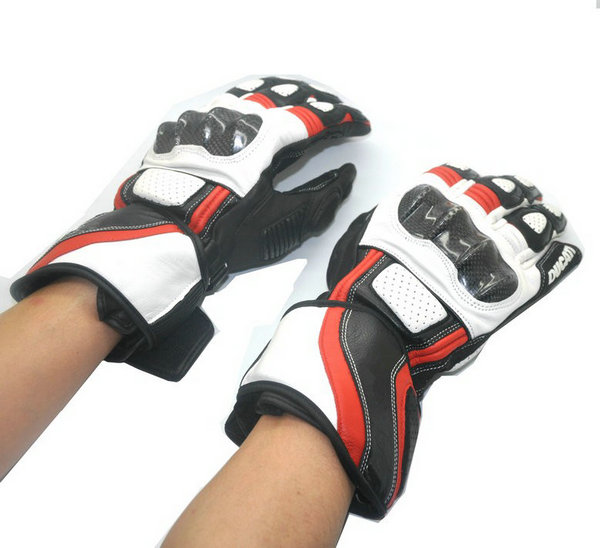 ФОТО Free shipping 2017 newest Motorcycle leather gloves for Ducatis Gloves Top Leather Breathable Riding Motorbike Racing Gloves