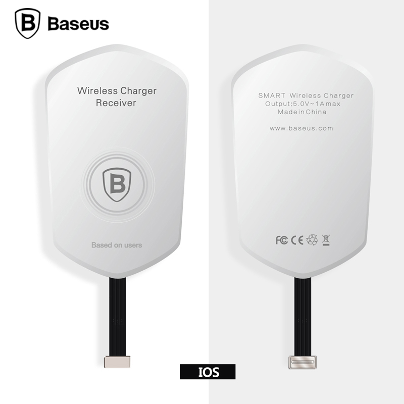 Qi Wireless Charger Adapter Adapter Bluetooth Mini Jack Oneplus 5 Usb C Adapter Kingston M 2 Pcie Adapter: Baseus QI Wireless Charger Receiver Charging Adapter Pad