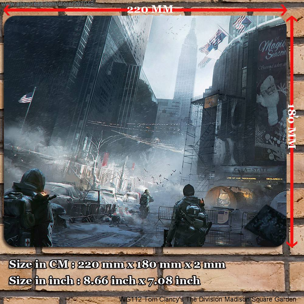 Rubber mats garden - Decoration Place Pad For Game Wg112 Tom Clancy S The Division Madison Square Garden Mouse Mat 22 X 18 X 0 2 Cm