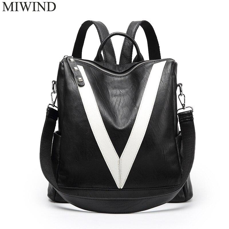 Free Shipping MIWIND Women Cow Leather Backpacks Softback Bags Brand Name Bag Casual Fashion Backpacks Girls Backpack WUB066 велосипед stels navigator 380 2016
