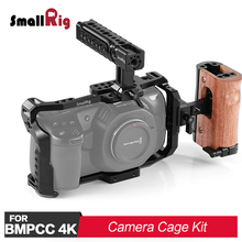SmallRig BMPCC 4K Camera Cage Kit for Blackmagic Design Pocket Cinema Camera 4K Comes with a Cage + Top Handle +Side Handle tilta wooden handle side handles hangrip for blackmagic cinema camera bmcc rig dhl free shipping