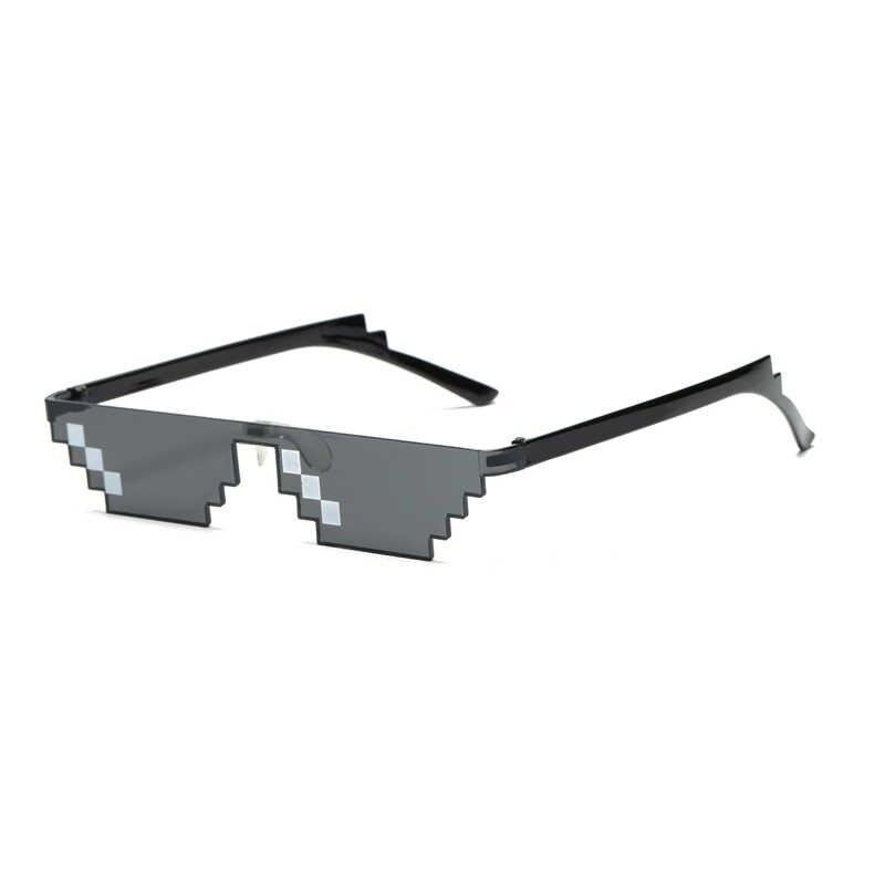 البلطجة الحياة صفقة معها النظارات الشمسية الرجال النساء الساخن بيع نظارات شمسية أوليغونال 8 بت نمط بكسل مع مخدة أنف للنظارة