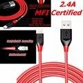 Tronsmart MFI Сертифицированный 8 Pin Кабель Зарядного Устройства 2.4A 1.8 M 6FT Нейлон Плетеный для iPhone 7 6 6 S 5 5S iPad Air Power Кабель Оригинальный