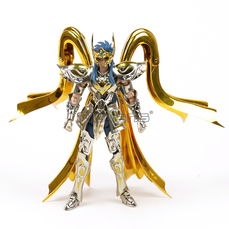 GREAT TOYS GT Model Aquarius Camus Saint Seiya EX Soul of Gold Metal Armor Gold Myth Cloth Toy Action Figure Collection lc model toys saint seiya cloth myth ex gold saint capricorn shura action figure classic collection toys brinquedos