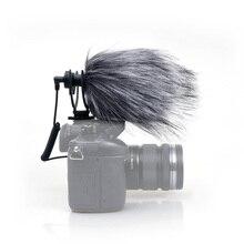MINI cámara compacta Escopeta Direccional Cardioide Micrófono de Vídeo con Montaje de Choque para el Smartphone Iphone, Samsung, GoPro