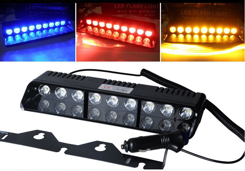 Emergency Vehicle Sucker Warning Light Strobe Flash 9LED Light Firemen Fog  High Power Red Blue Super